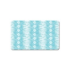 Snake Skin Blue Chevron Wave Magnet (Name Card)
