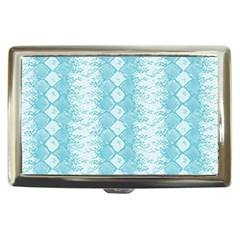 Snake Skin Blue Chevron Wave Cigarette Money Cases