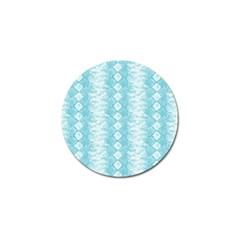 Snake Skin Blue Chevron Wave Golf Ball Marker (10 pack)
