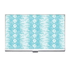 Snake Skin Blue Chevron Wave Business Card Holders