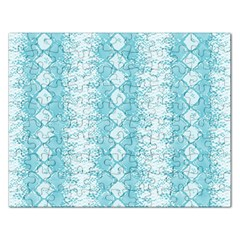 Snake Skin Blue Chevron Wave Rectangular Jigsaw Puzzl
