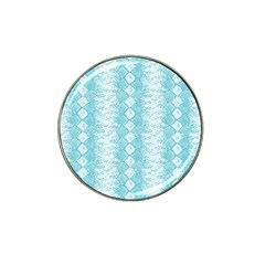 Snake Skin Blue Chevron Wave Hat Clip Ball Marker (4 pack)