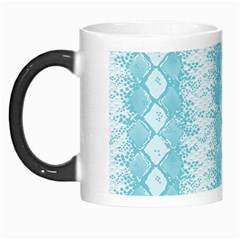 Snake Skin Blue Chevron Wave Morph Mugs