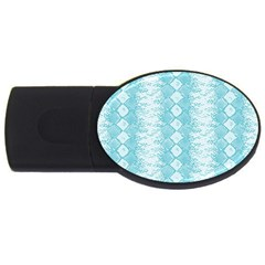 Snake Skin Blue Chevron Wave USB Flash Drive Oval (4 GB)
