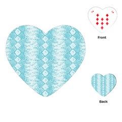 Snake Skin Blue Chevron Wave Playing Cards (Heart)