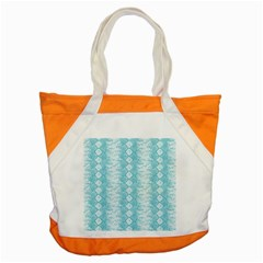 Snake Skin Blue Chevron Wave Accent Tote Bag