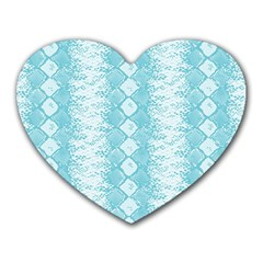 Snake Skin Blue Chevron Wave Heart Mousepads