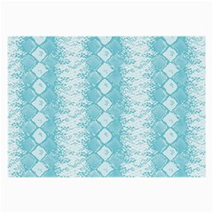 Snake Skin Blue Chevron Wave Large Glasses Cloth (2-Side)