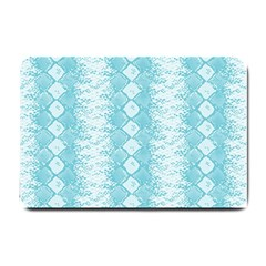 Snake Skin Blue Chevron Wave Small Doormat