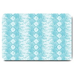 Snake Skin Blue Chevron Wave Large Doormat