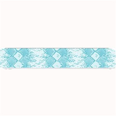 Snake Skin Blue Chevron Wave Small Bar Mats