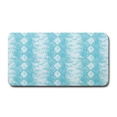 Snake Skin Blue Chevron Wave Medium Bar Mats