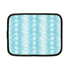 Snake Skin Blue Chevron Wave Netbook Case (Small)