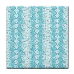 Snake Skin Blue Chevron Wave Face Towel