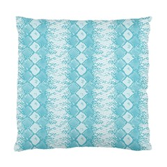 Snake Skin Blue Chevron Wave Standard Cushion Case (Two Sides)