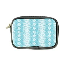 Snake Skin Blue Chevron Wave Coin Purse