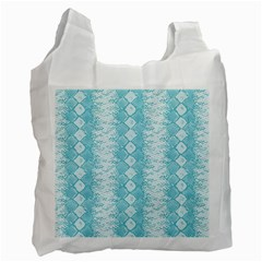 Snake Skin Blue Chevron Wave Recycle Bag (Two Side)