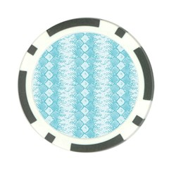 Snake Skin Blue Chevron Wave Poker Chip Card Guard (10 pack)