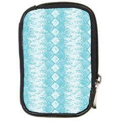 Snake Skin Blue Chevron Wave Compact Camera Cases
