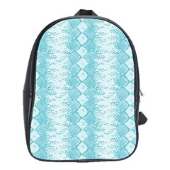 Snake Skin Blue Chevron Wave School Bags(Large)