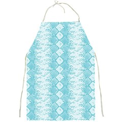 Snake Skin Blue Chevron Wave Full Print Aprons