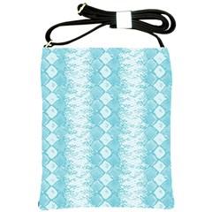 Snake Skin Blue Chevron Wave Shoulder Sling Bags