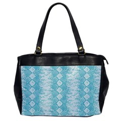 Snake Skin Blue Chevron Wave Office Handbags
