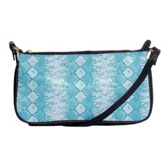 Snake Skin Blue Chevron Wave Shoulder Clutch Bags
