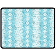 Snake Skin Blue Chevron Wave Fleece Blanket (Large)