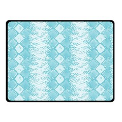 Snake Skin Blue Chevron Wave Fleece Blanket (Small)
