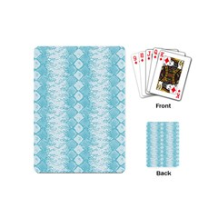 Snake Skin Blue Chevron Wave Playing Cards (Mini)