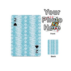 Snake Skin Blue Chevron Wave Playing Cards 54 (Mini)