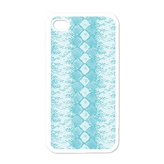 Snake Skin Blue Chevron Wave Apple iPhone 4 Case (White)