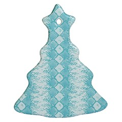 Snake Skin Blue Chevron Wave Ornament (Christmas Tree)