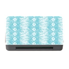 Snake Skin Blue Chevron Wave Memory Card Reader with CF