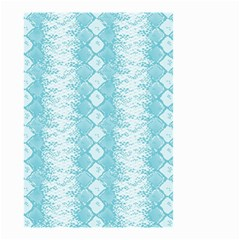 Snake Skin Blue Chevron Wave Small Garden Flag (Two Sides)