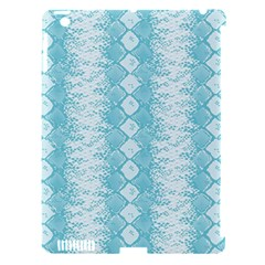 Snake Skin Blue Chevron Wave Apple iPad 3/4 Hardshell Case (Compatible with Smart Cover)
