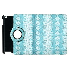 Snake Skin Blue Chevron Wave Apple iPad 2 Flip 360 Case