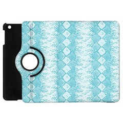 Snake Skin Blue Chevron Wave Apple iPad Mini Flip 360 Case