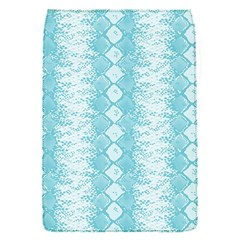 Snake Skin Blue Chevron Wave Flap Covers (S)