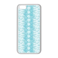 Snake Skin Blue Chevron Wave Apple iPhone 5C Seamless Case (White)