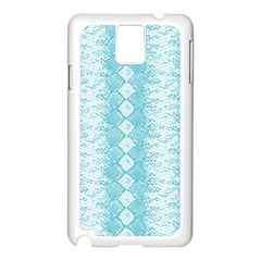 Snake Skin Blue Chevron Wave Samsung Galaxy Note 3 N9005 Case (White)