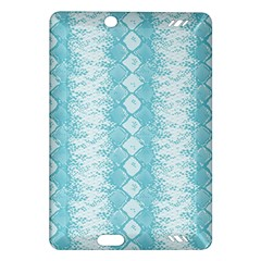 Snake Skin Blue Chevron Wave Amazon Kindle Fire HD (2013) Hardshell Case
