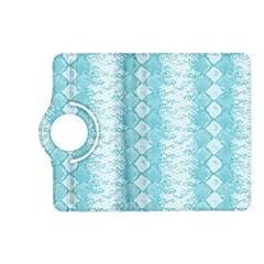 Snake Skin Blue Chevron Wave Kindle Fire HD (2013) Flip 360 Case