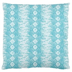 Snake Skin Blue Chevron Wave Standard Flano Cushion Case (Two Sides)