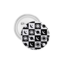 Space Month Saturnus Planet Star Hole Black White 1.75  Buttons