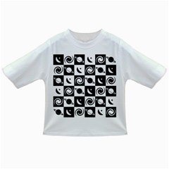 Space Month Saturnus Planet Star Hole Black White Infant/Toddler T-Shirts