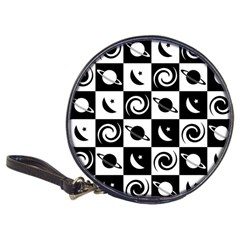 Space Month Saturnus Planet Star Hole Black White Classic 20-CD Wallets