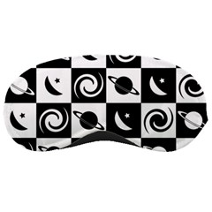 Space Month Saturnus Planet Star Hole Black White Sleeping Masks