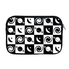 Space Month Saturnus Planet Star Hole Black White Apple MacBook Pro 17  Zipper Case